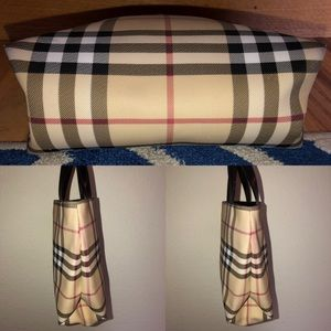 Burberry Bags - Burberry Mini Square Coated Canvas Tote Bag